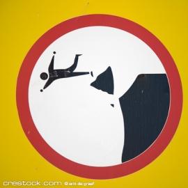 Cliff-warning-sign