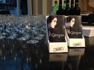 The one time my two jobs combined! Glimpse chocolate bars at my book launch party.