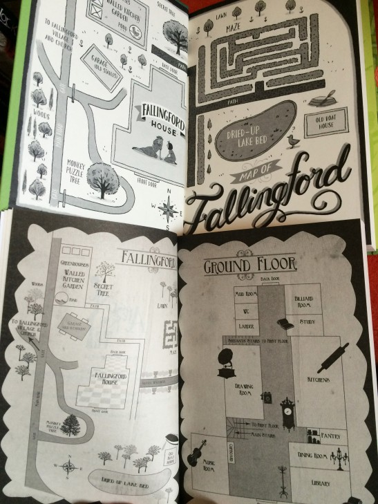 Fallingford House - maps by Elizabeth Baddeley (top) and Nina Tara (bottom)