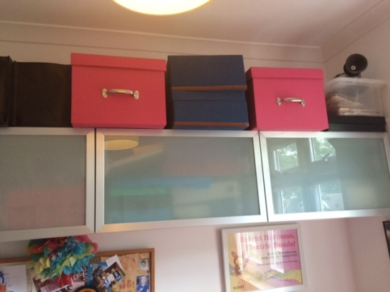 shelving and boxes one